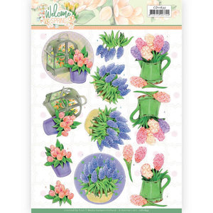3D cutting sheet - Jeanine's Art  Welcome Spring - Hyacinth