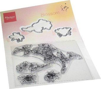Marianne Design Clear Stamp & die set Tiny's Bloesem TC0881