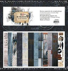 """13Arts Paper Collection Set 12""""*12"""" Mr. Handsome, 250 gsm"""
