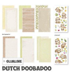 Dutch Doobadoo Slimline paper Kit Luiaard 21x10,5 cm