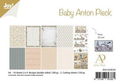 Joy! Crafts Papierset - Anton Pieck - Design Baby 10vl 6011/0670 A4 - 200 gr