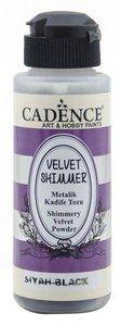 Cadence Velvet shimmer powder Zwart 120 ml