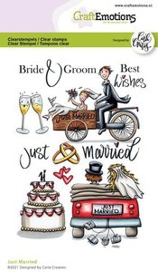 CraftEmotions clearstamps A6 - Just Married (Eng) Carla Creaties