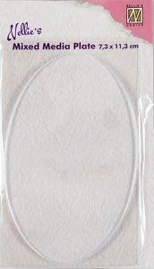 Nellies Choice Gelplate ovaal 7,3x11,3cm