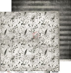 """Craft OClock Double-sided paper 12""""*12"""" Basic 02 - Gray Mood - 04"""