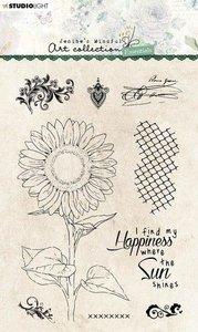 Studio Light Clear Stamp Jenine's Essentials Sunflower nr.66 A6