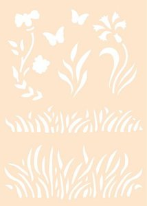 Joy! Crafts Polybesa stencil - Gras 6005/0013 A6