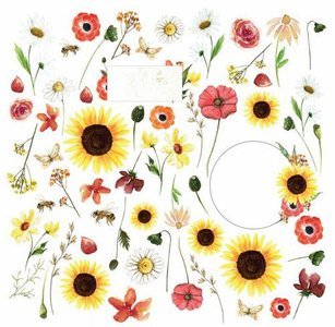 Craft&You Blossom Meadow sheet elements to cut out 12x12