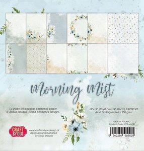 Craft&You Morning Mist Big Paper Set 12x12 12 vel