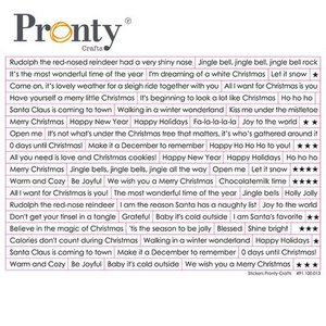Pronty Stickers A5 Chistmas tekst (ENG)