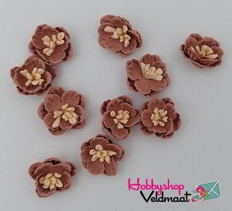 Hobbyshop Veldmaat Bloemen Klein Antiek Bruin 10 stuks