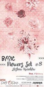 Craft OClock Basic Flowers Set 8, Pink