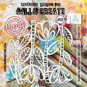 AALL & Create Stencil Quattro Fiori
