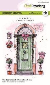 CraftEmotions clearstamps A6 - Oude deur met toog - Decoration X-mas Carla Kamphuis