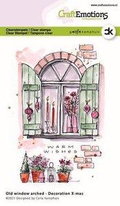 CraftEmotions clearstamps A6 - Oud raam met toog - Decoration X-mas Carla Kamphuis