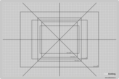 CraftEmotions snijmat dun 45x60 cm