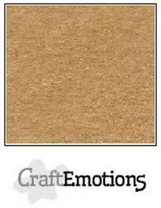 CraftEmotions karton kraft lichtbruin 10 vel 30,5 x 30,5cm