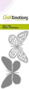 CraftEmotions Die - vlinder 2x