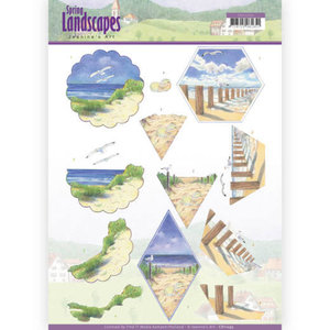 3D knipvel - Jeanine's Art - spring landscapes - beach