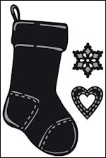 Marianne Design Craftable tiny's christmas socking CR1256