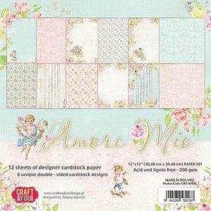 Craft&You Amore Mio Big Paper Set 12x12 12 vel