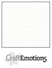 CraftEmotions linnenkarton wit 30,0 x 30,0cm