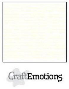 CraftEmotions karton gladkarton 10 vel gebroken wit 30,0 x 30,0cm