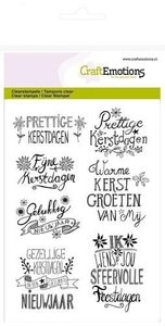 CraftEmotions clearstamp A6 - kerst handlettering Christmas Star