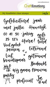 CraftEmotions clearstamps A6 - handletter - huwelijk (NL) Carla Kamphuis