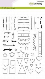 CraftEmotions clearstamps A5 - Bullet Journal - tekens groot