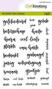 CraftEmotions clearstamps A6 - Bullet Journal -tekst (NL) Carla Kamphuis