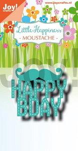 Joy! stencil Little Happiness Moustache 6002/1317