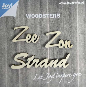 Joy! Woodsters houten woorden (3) zee zon strand 6320/0004