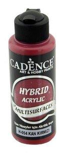 Cadence Hybride acrylverf (semi mat) Bloed rood  120 ml